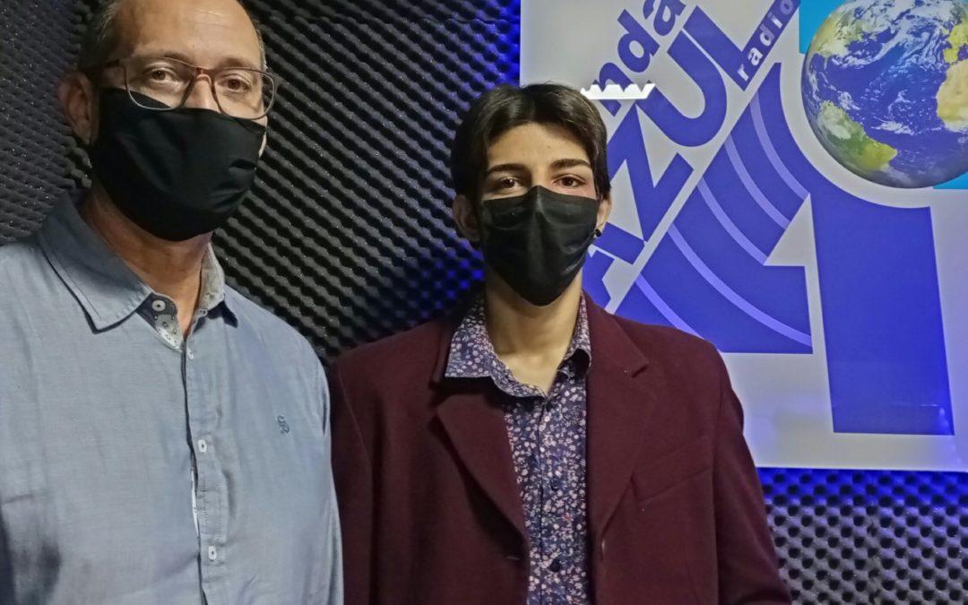 Damian Bear y Jose Antonio Sánchez; actores de la compañía de la Cueva de Melpómene.